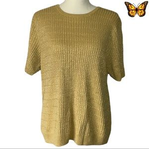 Alfred Dunner Short Sleeve Sweater Size Large